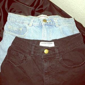 American Apparel Denim Cuffed Short